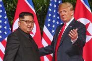 """特朗普称美国不再面临来自朝鲜的""""核威胁"""""""