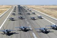 美军11分钟内起飞35架F35 美媒:歼20苏57没法比