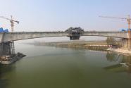 郑万高铁湖北段唐河双线特大桥合龙