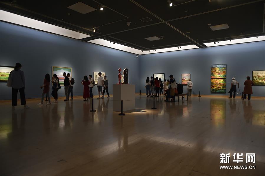 """(文化)(4)""""亚洲文明联展(艺术展):大道融通——亚洲艺术作品展""""在中国美术馆开幕"""