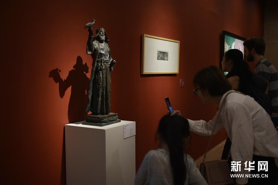 """(文化)(3)""""亚洲文明联展(艺术展):大道融通——亚洲艺术作品展""""在中国美术馆开幕"""