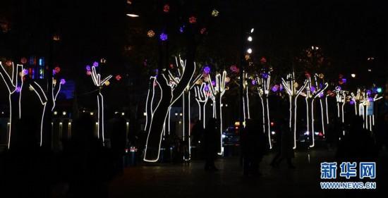 (社会)(3)天津:冬夜民园