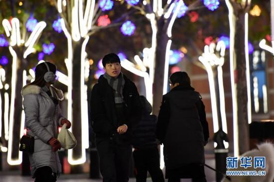(社会)(1)天津:冬夜民园