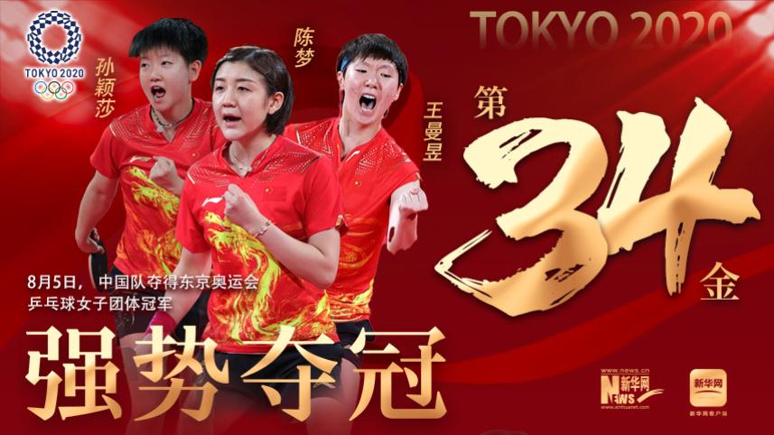 中國女乒勝日本強勢奪得團體冠軍